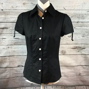 Worth New York Short Sleeve Button Up Shirt Sz 4
